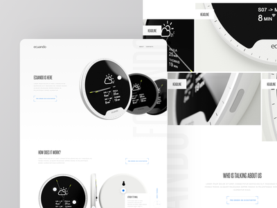 Landing page for Kickstarter project promotional flat white light clean website homepage product crowdfunding kickstarter page landing