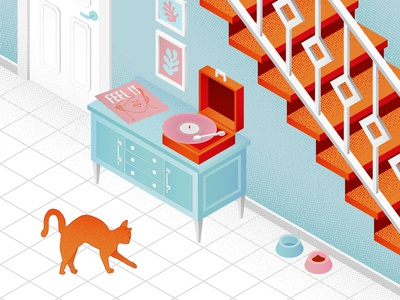 The cat in the isometry