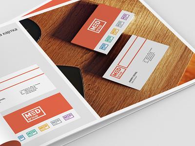 Brandbook - MED group identity brandbook branding logo design