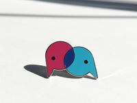 Friends IRL enamel pin