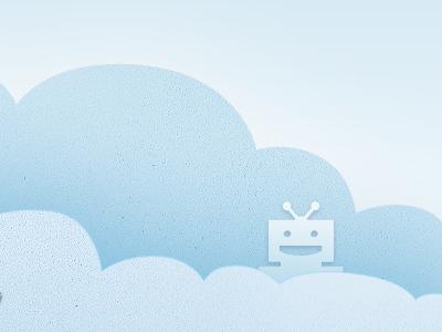 my robot friend clouds robot texture ui illustration