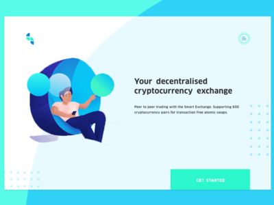 Decentralised Cryptocurrency Exchange Landing Page