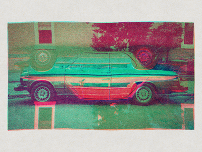 4 Color Experiment distorted photography car cmyk 4 color process photoshop