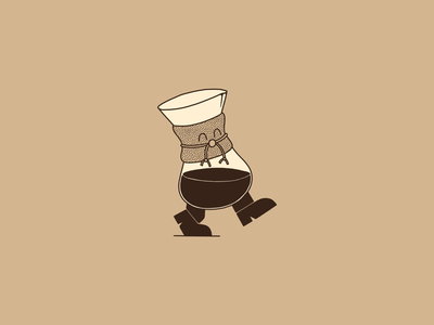 Lil Chem pour over brew chemex illustration cartoon coffee