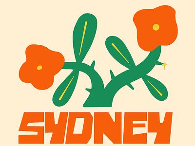 Sydney Concept sydney illustration thorns logo branding lettering hand lettered rose flower