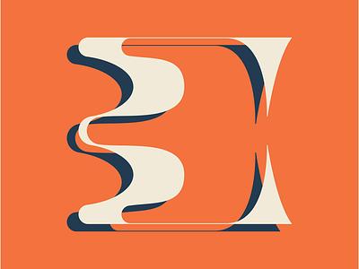 Type Exploration: C distorted wavy custom type custom typography type lettering c