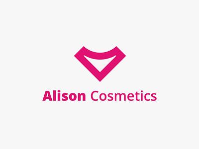 Alison Cosmetics - logo lettering type flat branding vector typography design logo illustration