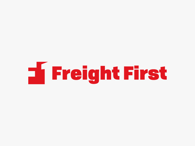 Freight First - logo minimal identity icon clean vector typography type logo lettering illustration flat design branding