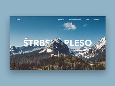 Štrbské pleso - webdesign identity animation design layout page minimal interface clean website webpage webdesigner app ux ui branding web webdesign
