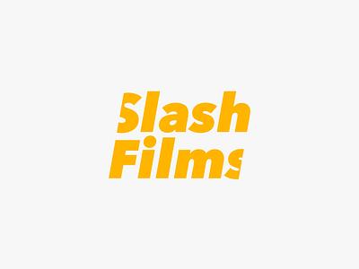 Slash Films - logo icon identity clean vector typography type logo design branding