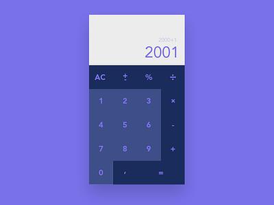Calculator ux animation app ui minimal illustration flat clean vector design branding