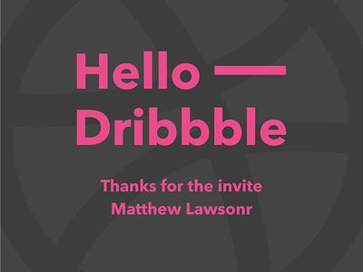 Hello Dribbble thanks invite hello hello dribbble dribbble