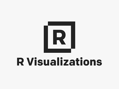 R Visualizations - logo illustrator minimal icon lettering identity typography type logo flat illustration clean vector design branding