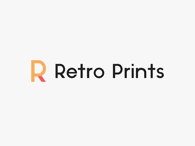 Retro Prints - logo illustrator brand icon minimal lettering typography logo identity type illustration flat clean vector design branding