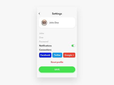 Settings iphone mobile minimal ios website web animation app ux ui flat clean design settings page settings