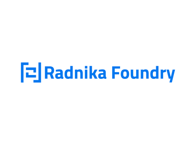 Radnika Foundry - logo brand typography icon lettering minimal identity type mark illustration branding vector flat clean design logo