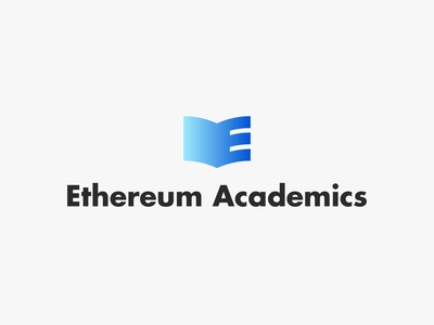 Ethereum Academics - logo brand typography identity type minimal branding illustration vector flat clean logo design
