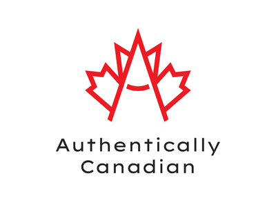 Authentically Canadian - logo graphic design type branding art illustrator minimal app brand identity logo icon illustration vector design