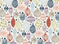 Christmas ornaments pattern