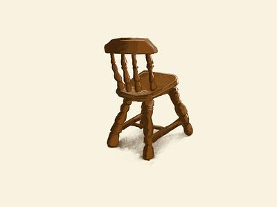 A Chair furniture chair procreate art design illustration