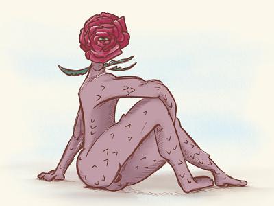 Flower Boy art procreate design illustration boy flower