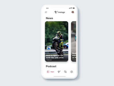 Motogp app re-designed (concept)