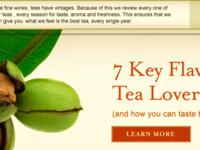 Tea Website Closeup