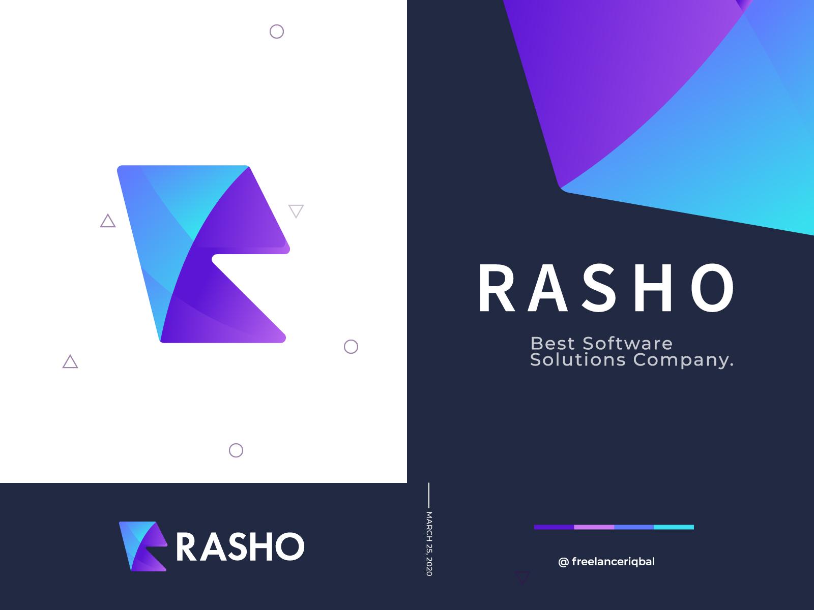 R Abstract Letter Logo Design Unused By Freelancer Iqbal Logo Designer On Dribbble