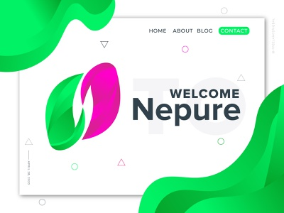 Nepure Logo Branding - Letter N Logo Mark logo designer letter n mark n logo corporate business card illustration typography gradient creative logo branding branding modern logo brand identity logo design corporate branding app logo design abstract logo design agency logo corporate logo abstract logo mondern logo