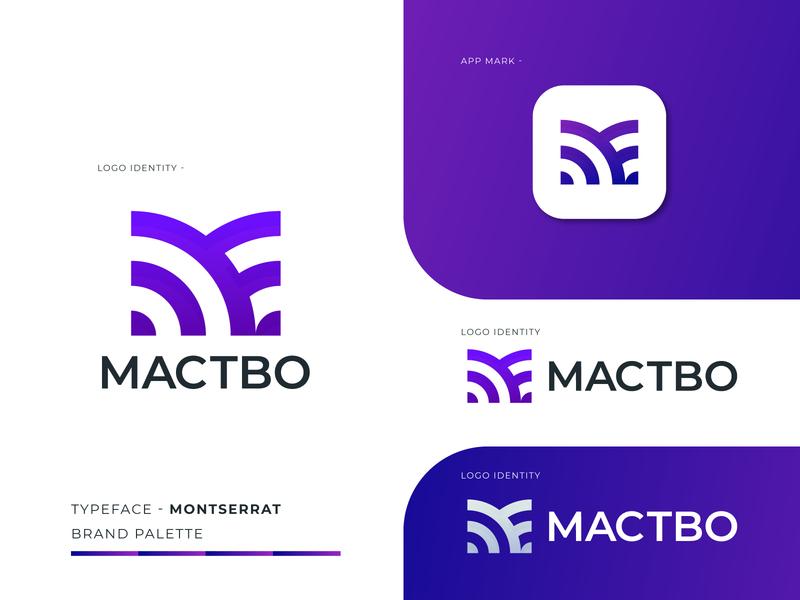 Mactbo Logo Branding - M logo Mark logo logo desiger logo marks app logo abstract gradient app logo design logo design brand identity logo branding branding company business agency corporate creative modern logo modern minimal m logo