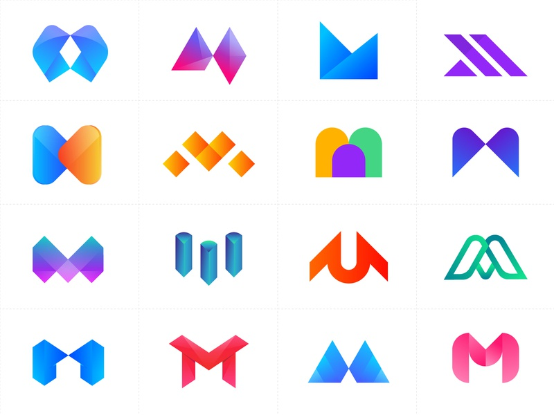 Alphabet Logo Collection - Letter M - M modern logo design conce logo trends 2020 corporate minimal creative typography abstract branding gradient logo branding app logo design brand identity logo designs logo designer logo design m monogram m letter m logo design m modern logo m letter logo m logo
