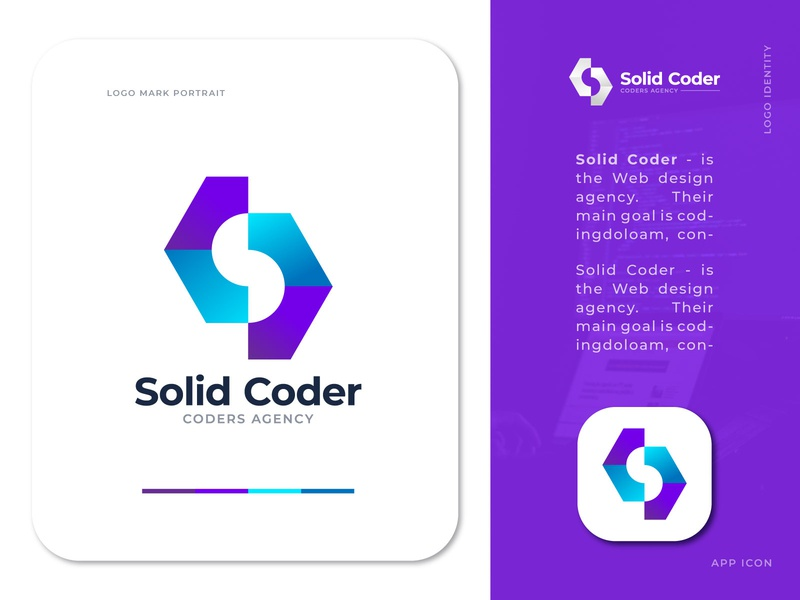 SolidCoder - Web development agency logo mark logo trends 2020 web logo mark creative modern logo agency logo design logo designer app logo design corporate typography illustrator identity logo branding logotype vector concept design logo web agency logo coding logo