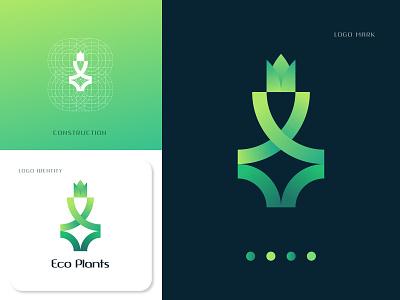 EcoPlants Organic logo design concept plants eco organic logos identity icon app logodesign brand identity logo branding abstract branding corporate typography vector logotype logo designer logo design design logo