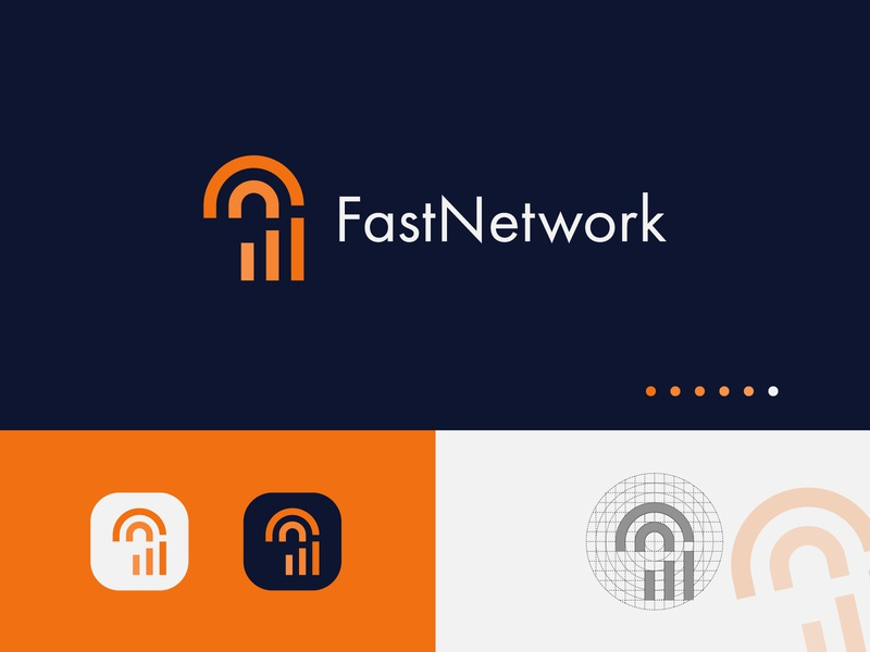 FastNetwork Logo Design - Network logo design concept minimal logo design marketing logo network logo icon designs flat logotype designer logos logodesigns logo designer logotype modern logo vector app logo design typography corporate brand identity logo design logo branding design logo