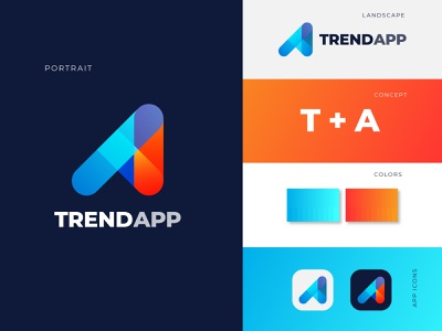 TA modern app logo design  - App logo mark logo trends logo branding logos graphics apps modern dribbble best logo designer in dribbble best logo designer logo designer logo branding design ta logo brand identity typography branding corporate app logo design modern logo logo branding logo design design logo