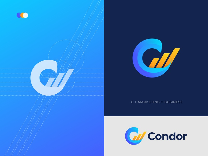 Condor Marketing Logo Mark - Marketing Logo - Business Logo creative logo creative corporate logo trends 2020 logotype typography app logo design brand identity logo designer modern logo logo branding logo design design logo