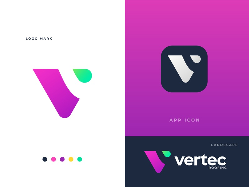 Vertec Roofing Logo - V modern Initial Letter Logo Design best graphic designer best logo designer best logo designer in dribbble dribbble branding and identity logotype logo designer logo branding logo design branding design modern minimal flat app icon typography vector branding design logo