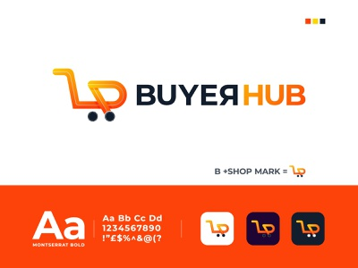 B + Shop for BuyerHub + Shop Logo Design + Online Shop Logo Mark vector abstract best logo designer logo trends 2020 technology digital dribbble online shopping minimal online shop logo ecommerce logo online shop shop logo app logo design logo design logo designer brand identity branding design logo