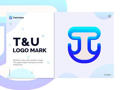 T + U Minimal Modern Logo Design Concept - Modern Logo Mark business logo corporate vector gradient abstract brand identity logo designer app logo design creative design logo branding logo modern logo logo design typography