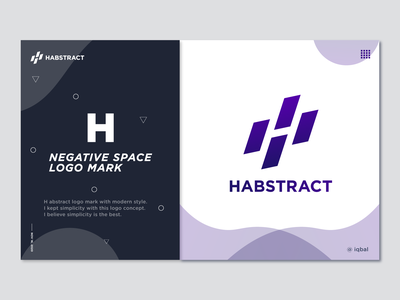 H Negative Space Abstract Logo Mark flat abstract design logo trends concept abstract logo h abstract abstract art h abstract logo dessign logo designer branding web app icon typography illustration vector design logo