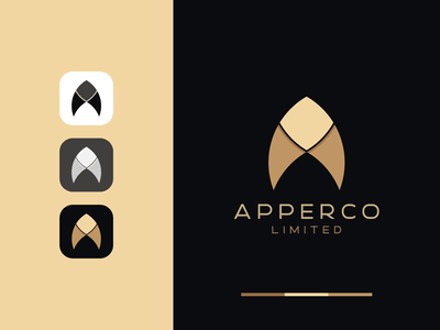 A Abstract Flat Logo Design Concept - Flat A Logo Mark icon app luxury logo flat design minimal elegant logo concept flat logotype creative logo branding corporate branding vector brand identity typography logo designer logo design design logo