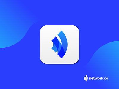 N Modern Network Logo Design - Network Logo Mark flat software logo network app logo app logo mark app logo design logo branding icon app app logo vector abstract modern logo branding typography brand identity logo design logo designer design logo
