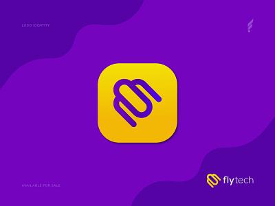 Digital Travelling Fly Logo Design Concept - Tech Fly Logo digital icon app logo fly logo tour logo travel logo travelling tech logo tech vector abstract creative modern logo corporate branding brand identity typography logo design design logo