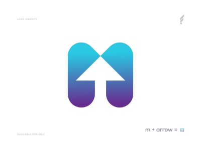 M + Arrow Logo - M Modern Logo - Modern Logo Mark logo mark logotype brand identity logo design flat logo animation logo designer logo design concept app logo gradient abstract modern m monogram m letter logo m letter arrow m logo m