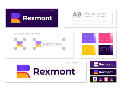 R modern logo design with Brand Style Guidelines app flat logo mark concept dribbble corporate design visual identity vector modern logo logo designer logo branding brand guidelines brand identity branding redesign r logo guidelines r logo design r logo branding r logo
