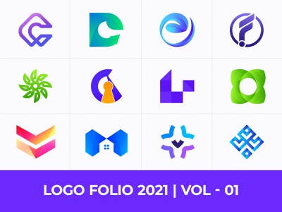 Logo Folio 2021 - Vol: 01  - Modern Logo Design Collection creative logo logos logo branding vector brand identity best logo designer logo designer logodesign consulting logo companny logo organic logo business logo abstract logo app logo design logotype modern logo logo design branding design logo