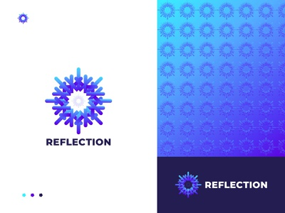 Reflection Conceptual Modern Logo Desgin logo design abstract logo creative logo logo designer brand web icon app logo illustrator clean vector brand identity branding gradient logo colorful logo design logo modern logo reflection logo
