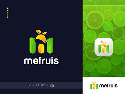 M + Fruits Logo Design - Modern Logo m logo mark vector app logo design brand identity modern typography logo design logo designer minimal branding design logo abstract logo gradient logo modern logo organic logo fruit logo fruits logo m logo m