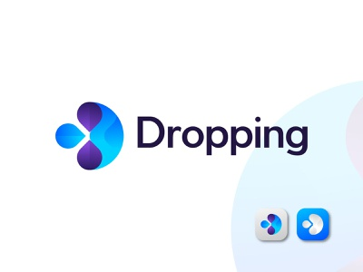 D for Droping flat icon app brand illustrator logo branding abstract creative vector app logo design design modern logo typography brand identity logo designer logo design branding logo drop d