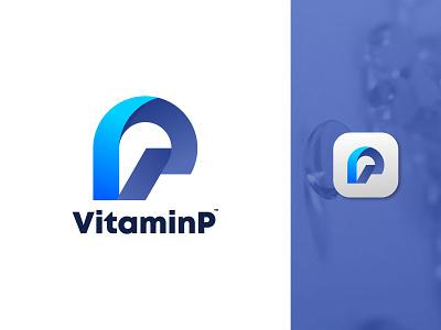 V+ P Medicine Logo Mark | VitaminP Logo Design icon app flat logos typography app logo design design branding brand identity logodesign modern logo logotype best logo designer logo designer logo design vp v logo p logo logo